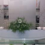 Vase ELLIPSE mit Stecker Töpfli weiss