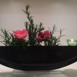 Vase ELLIPSE mit Stecker Töpfli grün
