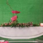 Vase ELLIPSE mit Stecker Töpfli rosa