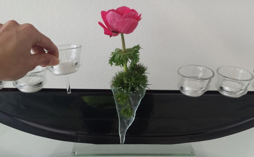 Vasen mit Stecker Schälchen