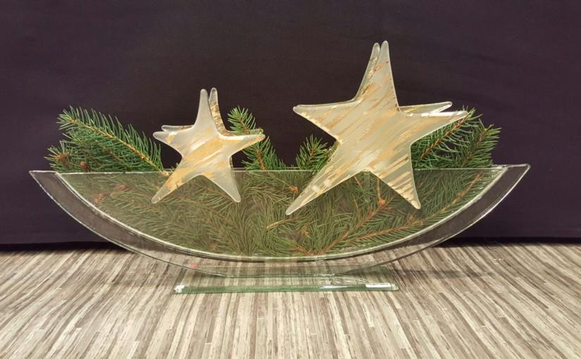 Vasen mit Steckfiguren: Weihnachten
