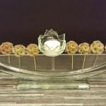 Vase ELLIPSE transparent mit Stecker Töpfli STELLA