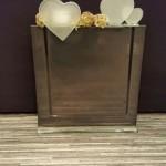 Vase QUADRO schwarz mit Stecker Herzlicht AMOR matt und Stecker Herzli AMOR matt